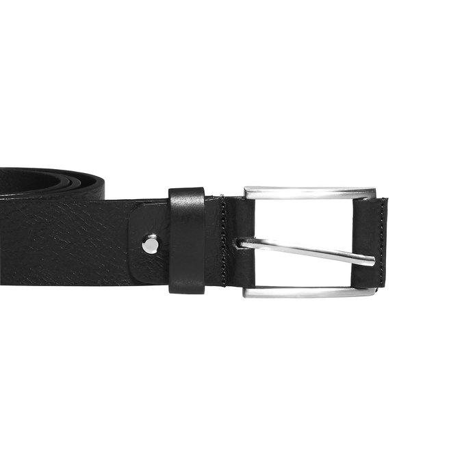 Klasyczny skórzany pasek bata, czarny, 954-6833 - 26