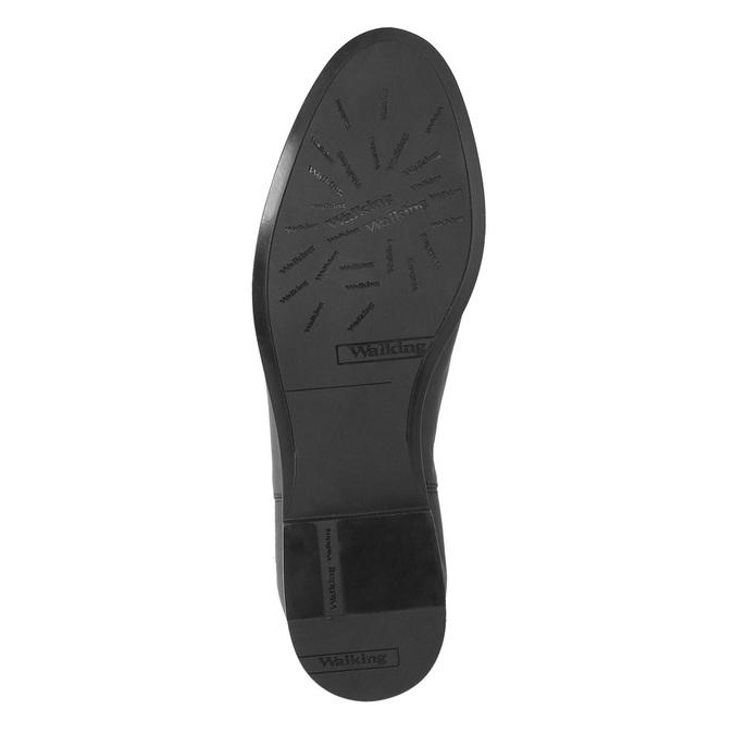 Buty ze skóry za kostkę z klamrą bata, czarny, 594-6602 - 26