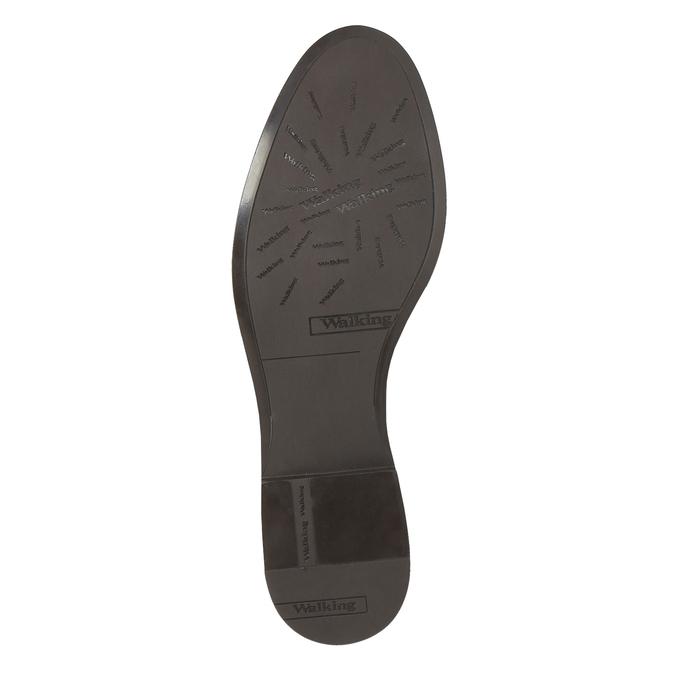 Buty ze skóry za kostkę z klamrą bata, brązowy, 594-4602 - 26
