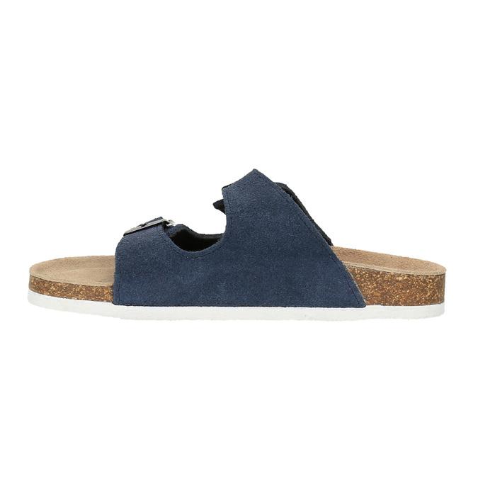 Dziecięce niebieskie pantofle de-fonseca, niebieski, 373-9600 - 26