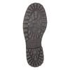 Skórzane półbuty z przeszyciami na nosku bata, czarny, 826-6640 - 26