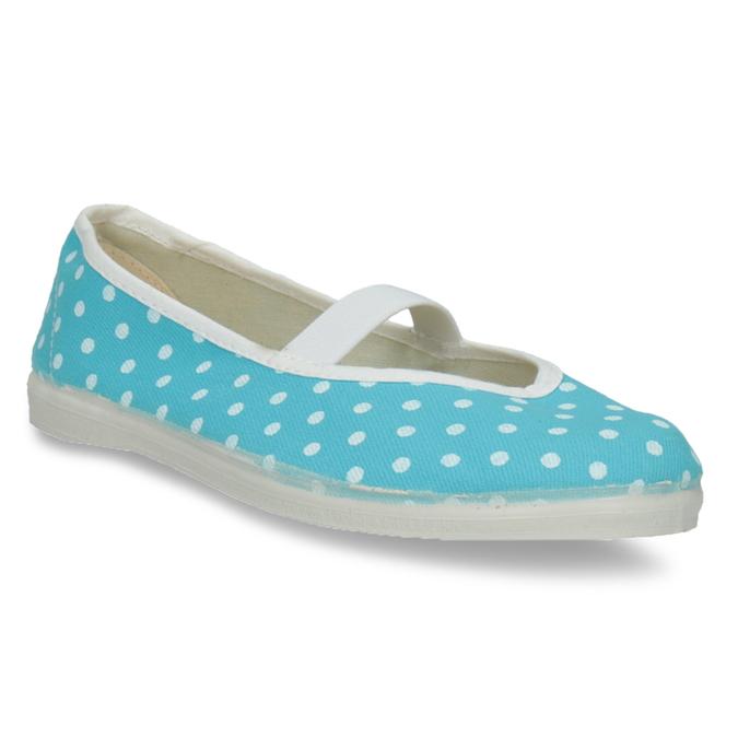 Błękitne balerinki domowe wgroszki bata, niebieski, 379-9103 - 13