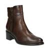 Buty ze skóry za kostkę z suwakami bata, brązowy, 694-4600 - 13