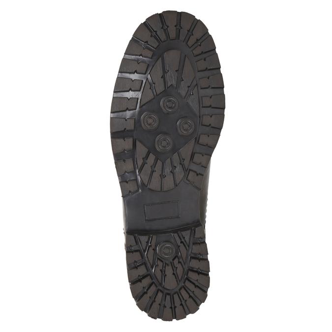 Nieformalne półbuty ze skóry bata, brązowy, 826-4640 - 17