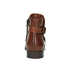 Buty ze skóry za kostkę z klamrą bata, brązowy, 594-4602 - 17