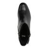 Skórzane botki na niskim obcasie bata, czarny, 694-6630 - 19
