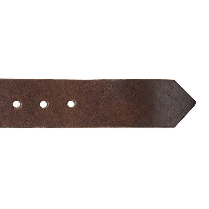 Brązowy skórzany pasek bata, brązowy, 954-4129 - 16