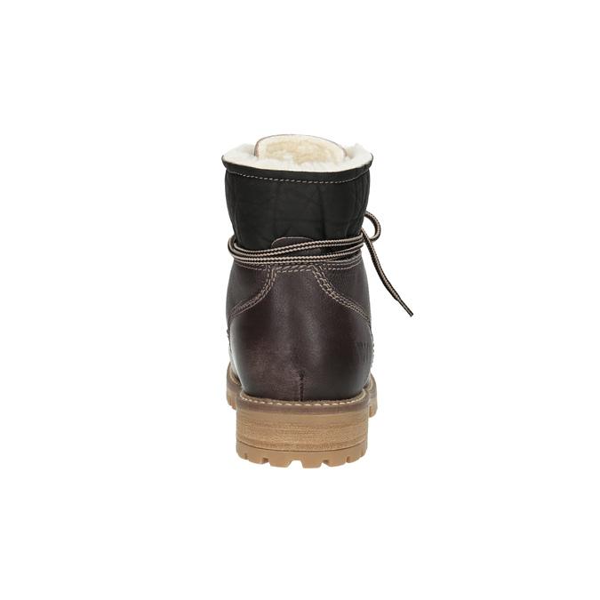 Zimowe skórzane buty damskie weinbrenner, brązowy, 594-4491 - 17