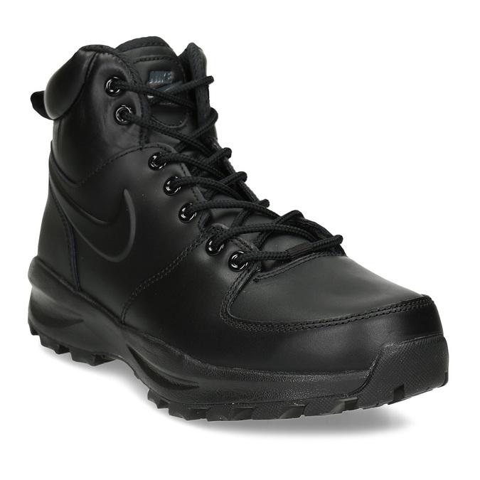 Skórzane buty męskie za kostkę nike, czarny, 806-6435 - 13