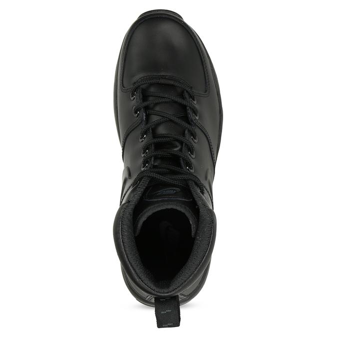 Skórzane buty męskie za kostkę nike, czarny, 806-6435 - 17