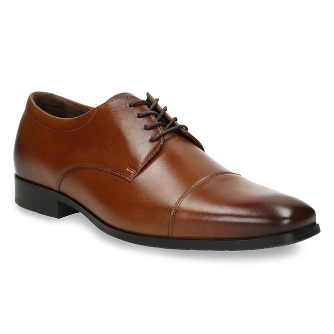 Męskie skórzane półbuty w stylu Derby bata, brązowy, 826-4736 - 13