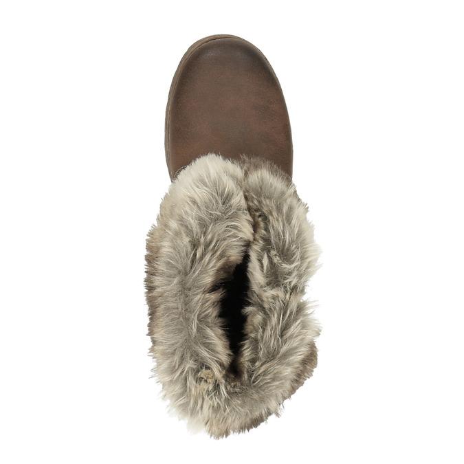 Botki damskie zfuterkiem bata, brązowy, 591-4601 - 19