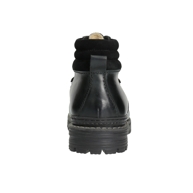 Skórzane buty z oryginalnym sznurowaniem bata, czarny, 894-6180 - 17
