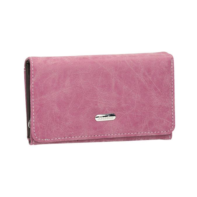 Stylowy portfel damski bata, różowy, 941-5153 - 13