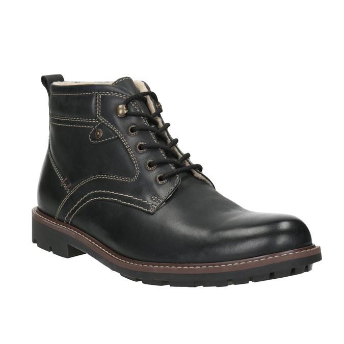 Skórzane buty zimowe bata, czarny, 894-6642 - 13