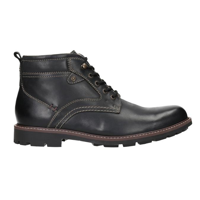 Skórzane buty zimowe bata, czarny, 894-6642 - 26