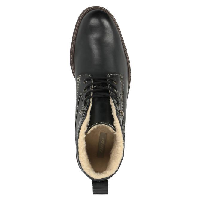Skórzane buty zimowe bata, czarny, 894-6642 - 19