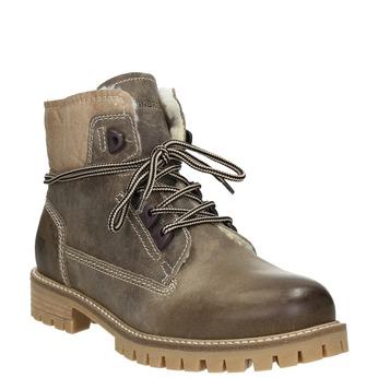 Skórzane buty zimowe zfuterkiem weinbrenner, brązowy, 594-2491 - 13