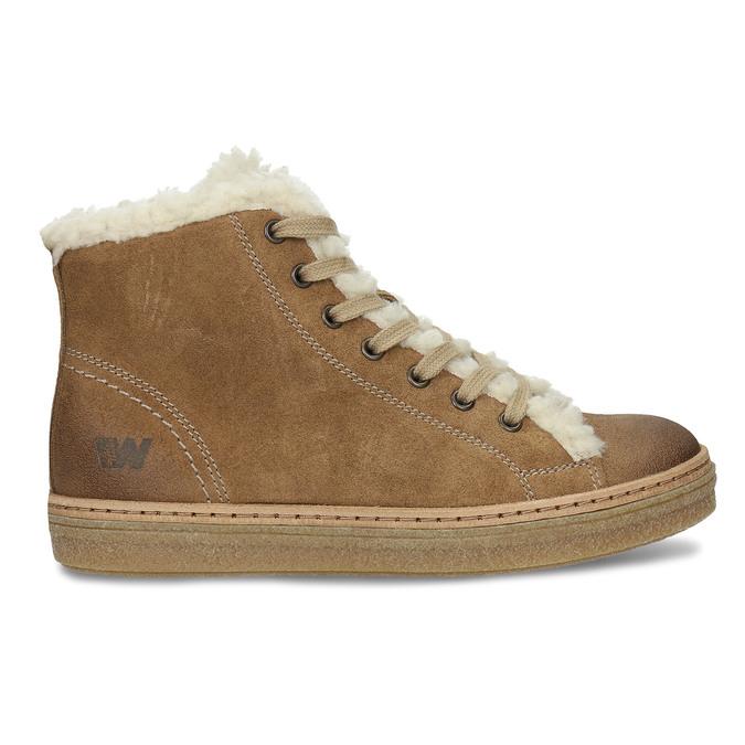 Skórzane buty sportowe do kostki z futerkiem weinbrenner, brązowy, 596-8627 - 19