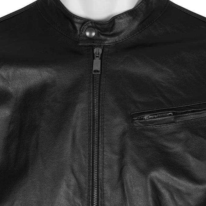 Kurtka skórzana ze stylowym pikowaniem bata, czarny, 974-6142 - 16