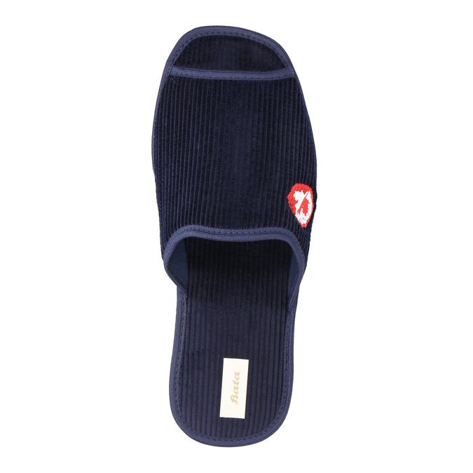 Kapcie męskie bata, niebieski, 879-9608 - 19