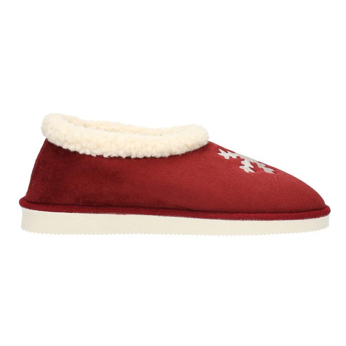 Kapcie domowe ze sztucznym futerkiem bata, czerwony, 579-5612 - 15