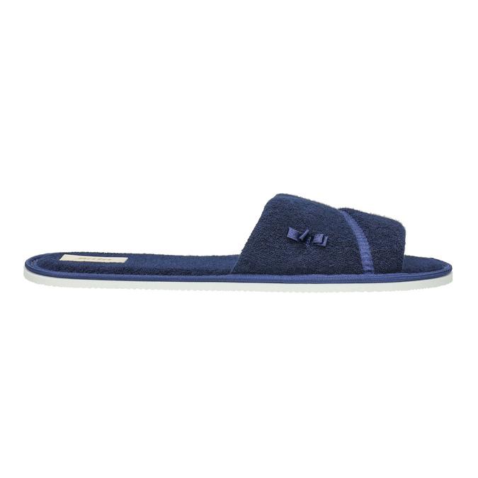 Kapcie damskie zkokardką bata, niebieski, 579-9609 - 15