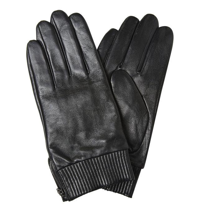Skórzane rękawiczki męskie bata, czarny, 904-6128 - 13