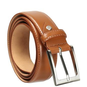 Brązowy skórzany pasek męski bata, brązowy, 954-3153 - 13