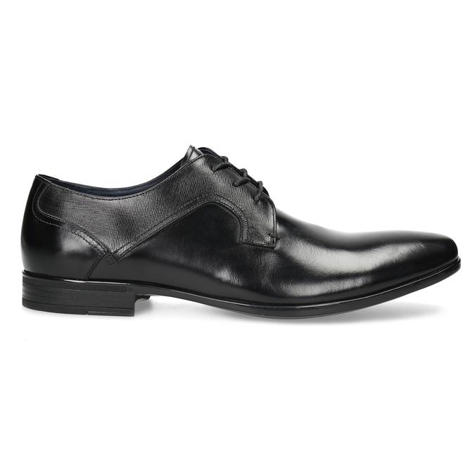 Czarne skórzane półbuty męskie bata, czarny, 824-6758 - 19