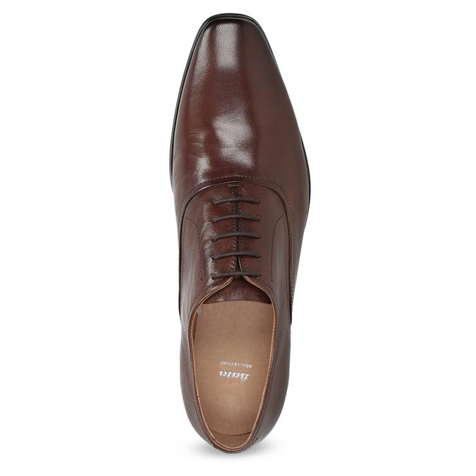 Brązowe skórzane półbuty typu oksfordy bata, brązowy, 826-3808 - 17