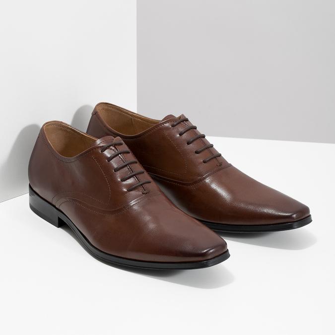 Brązowe skórzane półbuty typu oksfordy bata, brązowy, 826-3808 - 26