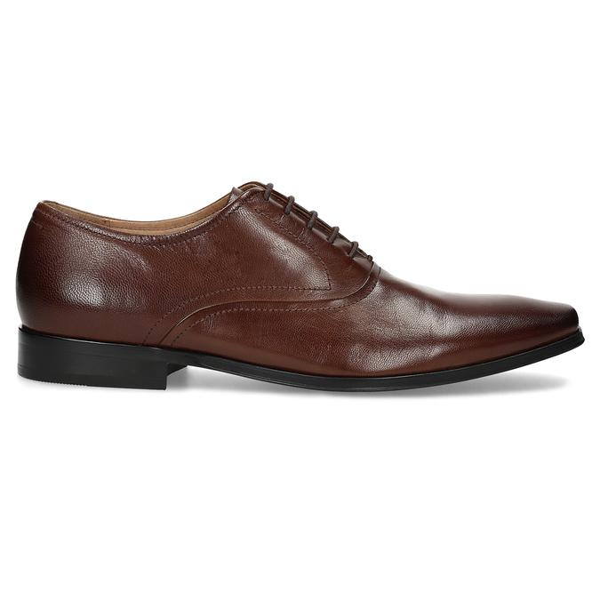 Brązowe skórzane półbuty typu oksfordy bata, brązowy, 826-3808 - 19