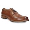 Skórzane półbuty męskie na grubszej podeszwie bata, brązowy, 826-3809 - 13