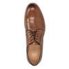 Skórzane półbuty męskie na grubszej podeszwie bata, brązowy, 826-3809 - 17