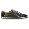 Męskie skórzane buty sportowe bata, czarny, 846-6617 - 19