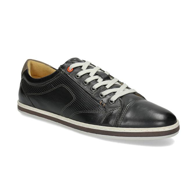 Męskie skórzane buty sportowe bata, czarny, 846-6617 - 13