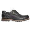 Skórzane półbuty z przeszyciami na nosku bata, czarny, 826-6640 - 15