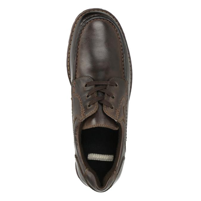 Nieformalne półbuty ze skóry bata, brązowy, 826-4640 - 15
