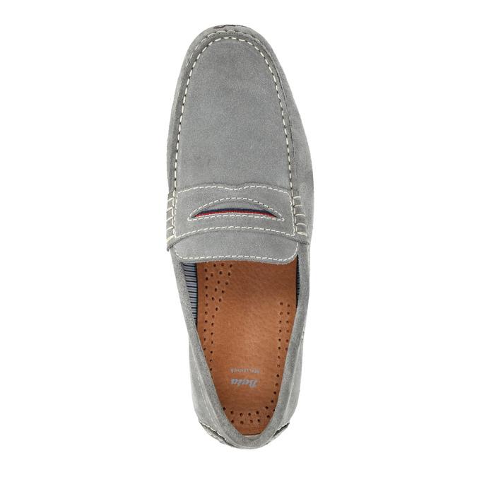 Zamszowe mokasyny męskie bata, szary, 853-2614 - 19