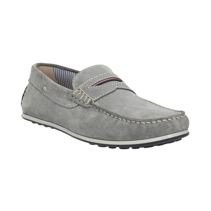 Zamszowe mokasyny męskie bata, szary, 853-2614 - 13