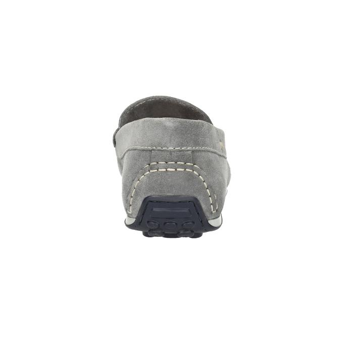 Zamszowe mokasyny męskie bata, szary, 853-2614 - 17