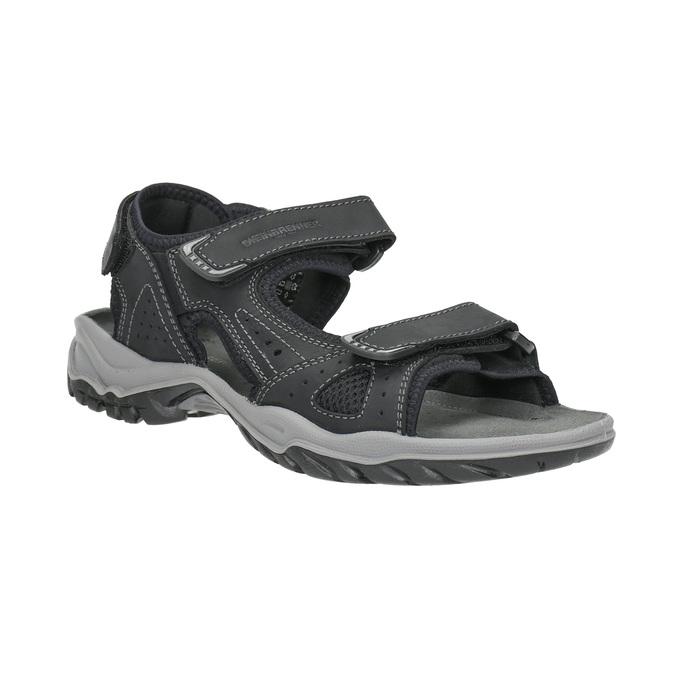 Skórzane sandały męskie weinbrenner, czarny, 866-6630 - 13