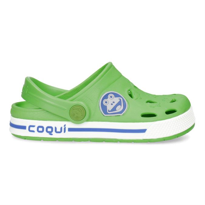 Zielone sandały dziecięce zżabkami coqui, zielony, 272-7603 - 19