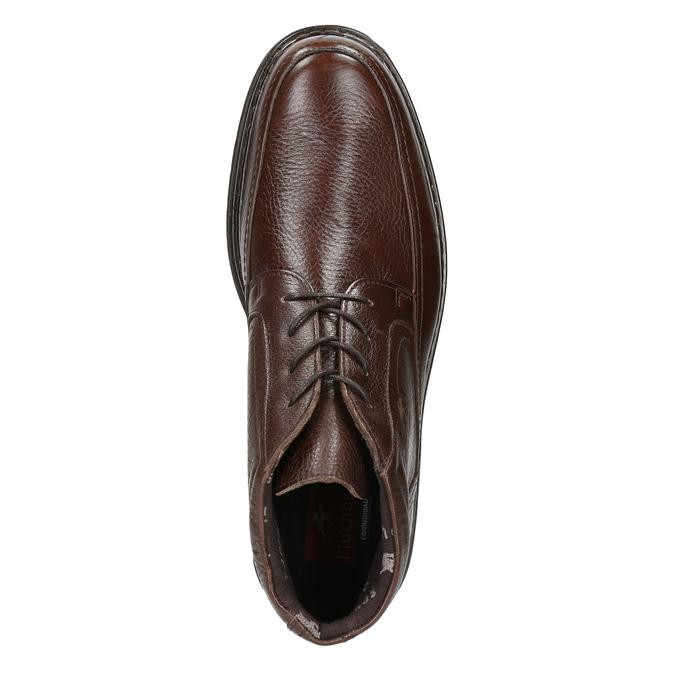Skórzane buty za kostkę fluchos, brązowy, 824-4450 - 26