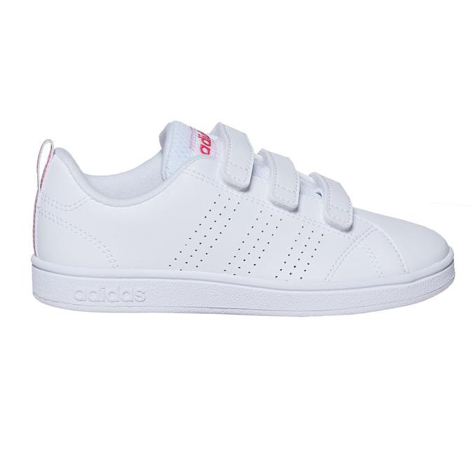 Trampki dziewczęce na rzepy adidas, biały, 301-1268 - 15