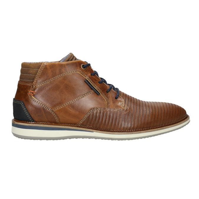 Nieformalne skórzane obuwie za kostkę bata, brązowy, 826-3912 - 15