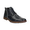 Skórzane buty za kostkę, zzamkami błyskawicznymi bata, niebieski, 826-9911 - 13
