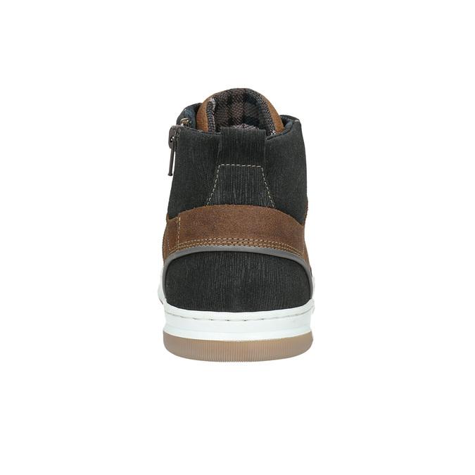 Skórzane trampki za kostkę bata, brązowy, 846-3640 - 17