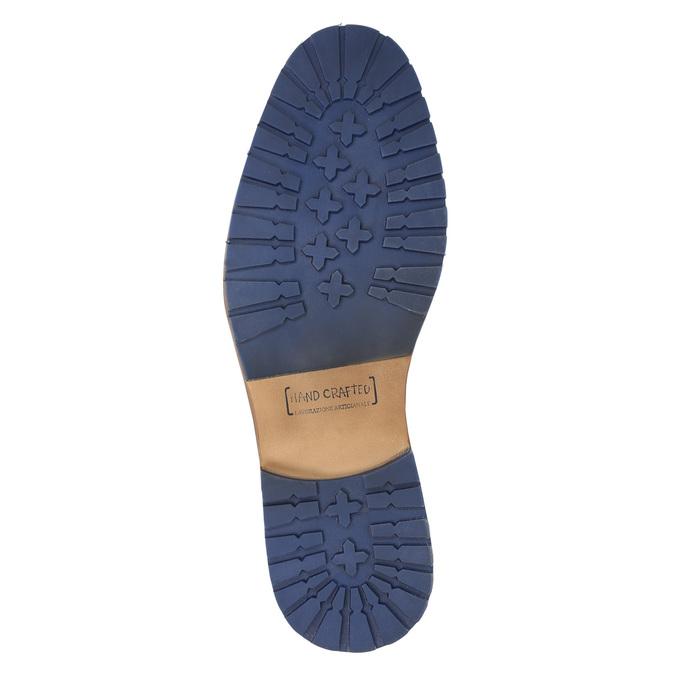 Skórzane buty za kostkę zzamkami bata, brązowy, 826-3911 - 19